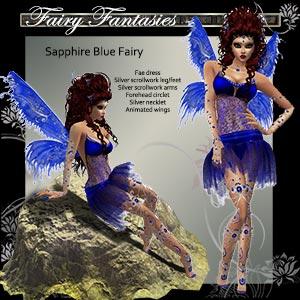Star Sapphire Fae Dress