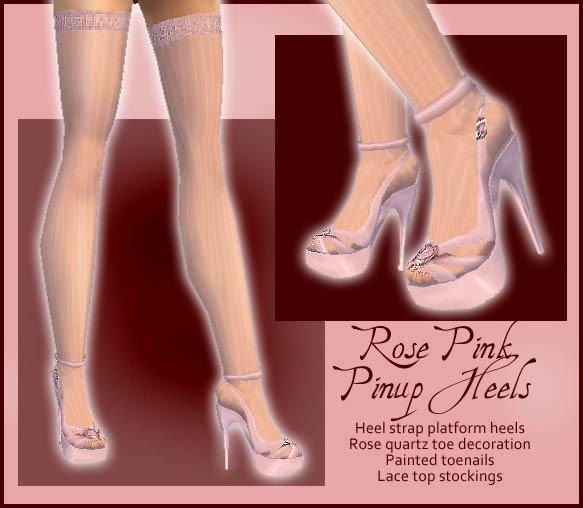Pink pinup platforms w/ stockings
