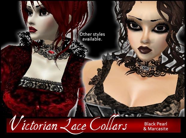 Black Pearl lace collar